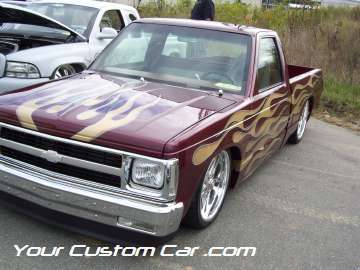 drop em wear show, car truck show, custom minitruck, custom car, custom paint s10