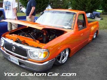 drop em wear show, car truck show, custom minitruck, custom car, custom ranger paint