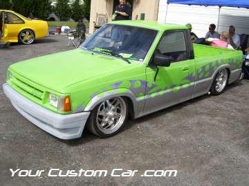 drop em wear show, car truck show, custom minitruck, custom car, custom mazda b2200