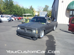 2011 drop em wear show, custom square body s10, square body on bags