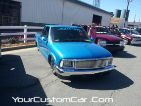 2011 drop em wear show, custom blue s10