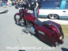2011 drop em wear show, custom chopper