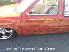 2011 drop em wear show, custom mazda, custom minitruck with woodgrain