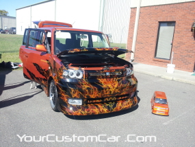 2011 drop em wear show, scion xb