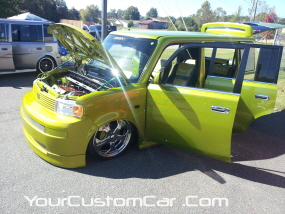 2011 drop em wear show, custom scion xb