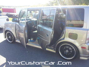 2011 drop em wear show, silver scion xb