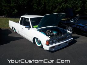 2011 drop em wear show, pebble pushers, custom nissan 720
