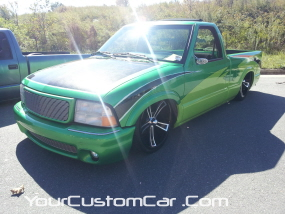 2011 drop em wear show, green sonoma, carbon fiber wrap