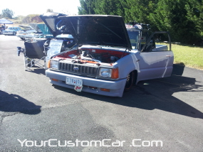 2011 drop em wear show, custom mazda minitruck