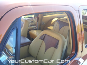 2011 drop em wear show, custom suburban interior