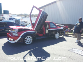 2011 drop em wear show, lambo doors on import, custom sentra