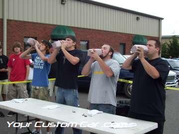 drop em wear show, car truck show, custom minitruck, custom car, milk contest