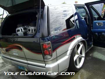 drop em wear show, car truck show, custom minitruck, custom car, custom blazer