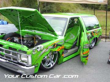 drop em wear show, car truck show, custom minitruck, custom car, custom painted blazer