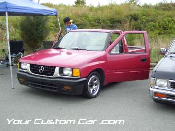 drop em wear show, car truck show, custom minitruck, custom car, custom mercedes