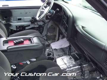 drop em wear show, car truck show, custom minitruck, custom car, custom sierra interior