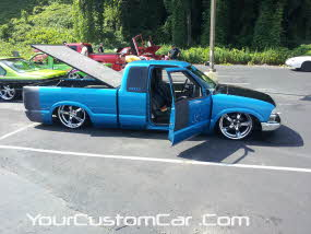 friends in low places car show, shaved doors on s10, kik show, winston salem car show