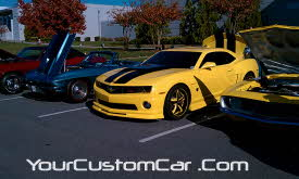 bumble bee camaro, transformers camaro, custom 2010 camaro