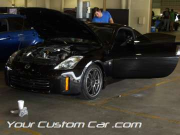 custom Nissan 350z, black 350z