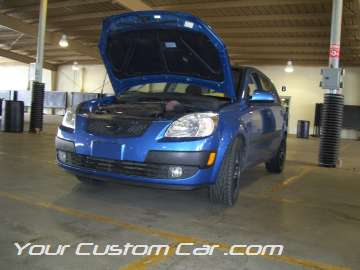 blue ford focus 4 door