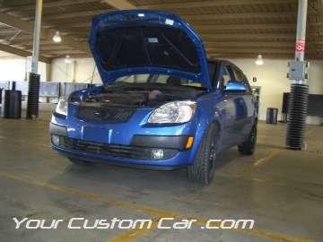 blue ford focus 4 door