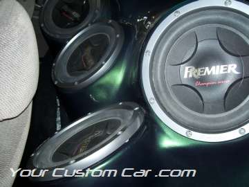 custom civic sound system subs