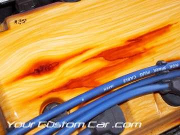 wood grain valve cover