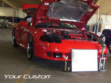Custom red dodge stealth