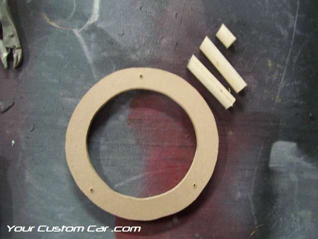Custom fiberglass speaker pods