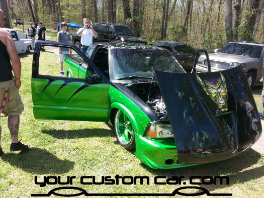layed out at the park, 2013, yourcustomcar, truck show, car show, custom minitruck, freaks of nature