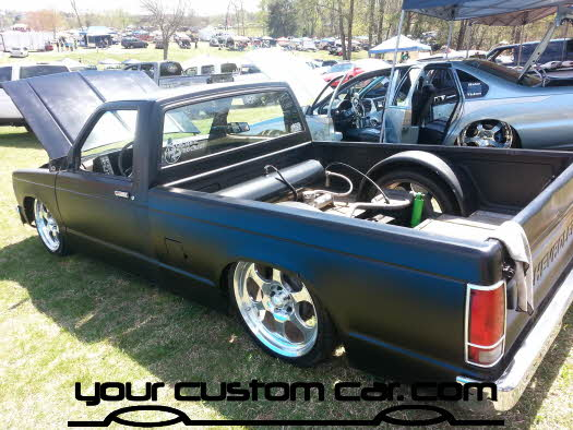 layed out at the park, 2013, yourcustomcar, truck show, car show, custom square body s10