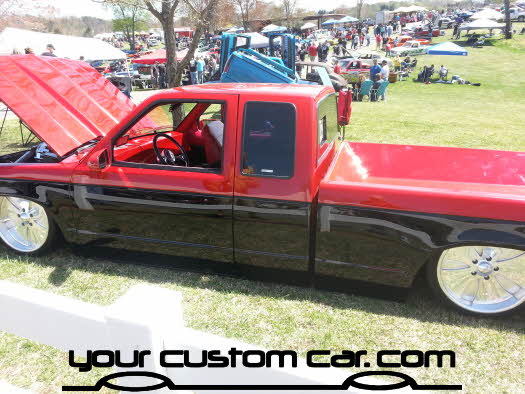 layed out at the park, 2013, custom sanoma, yourcustomcar, truck show, car show, custom minitruck