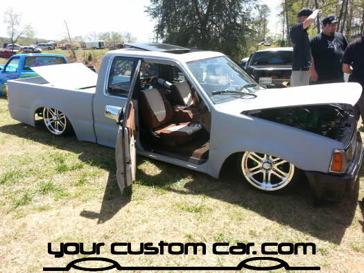 layed out at the park, 2013, yourcustomcar, truck show, car show, custom b2200