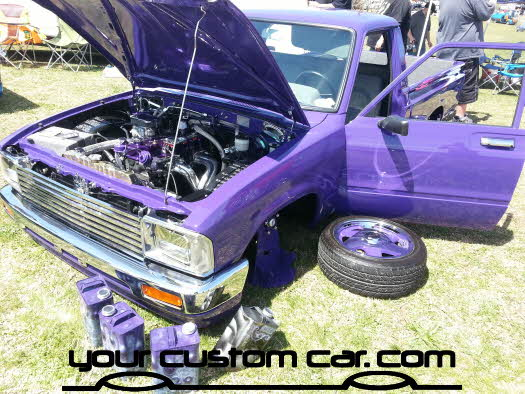 layed out at the park, 2013, yourcustomcar, truck show, car show, custom minitruck