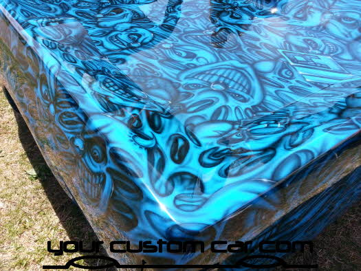 layed out at the park, 2013, yourcustomcar, truck show, car show, custom minitruck paint