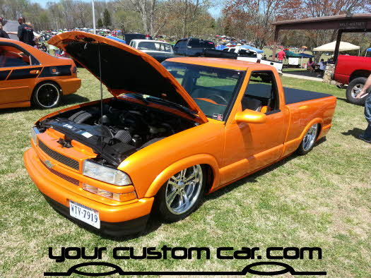 layed out at the park, 2013, yourcustomcar, truck show, car show, s10 on bags