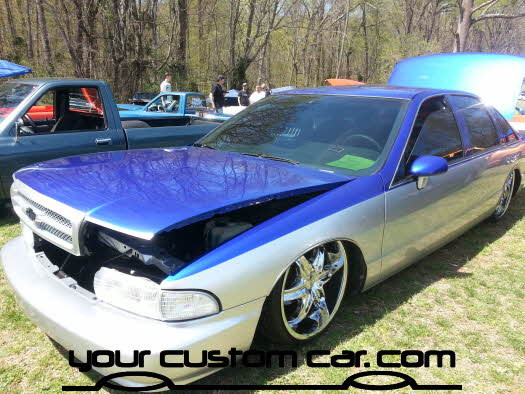 layed out at the park, 2013, yourcustomcar, truck show, car show, custom caprice
