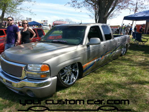 layed out at the park, 2013, slamd gmc, yourcustomcar, truck show, car show
