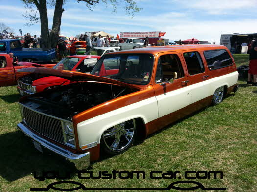 layed out at the park, 2013, body dropped suburbanyourcustomcar, truck show, car show