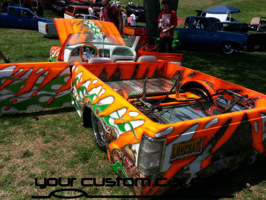 layed out at the park, 2013, yourcustomcar, truck show, car show, wild minitruck