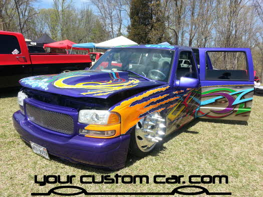 layed out at the park, 2013, custom dually, yourcustomcar, truck show, car show