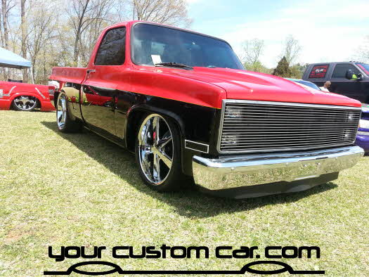 layed out at the park, 2013, custom 78 chevy 1500, yourcustomcar, truck show, car show, custom blazer