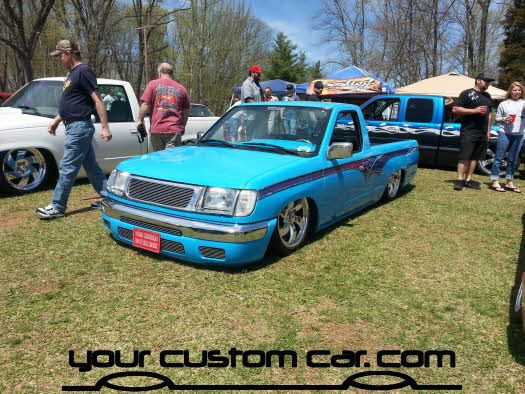 layed out at the park, 2013, yourcustomcar, truck show, car show, custom frontier