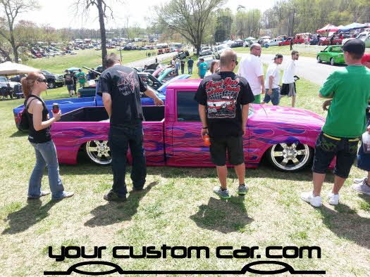 layed out at the park, 2013, yourcustomcar, truck show, car show, custom mazda b2000