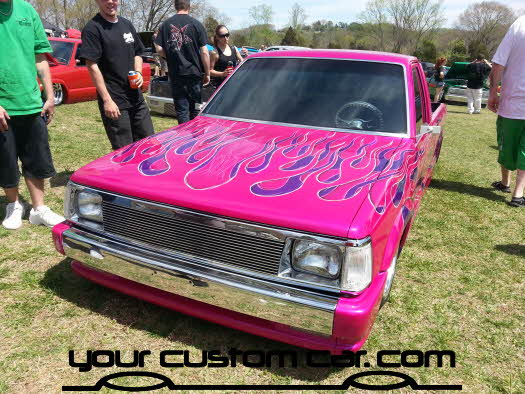 layed out at the park, 2013, yourcustomcar, truck show, car show, custom mazda b2000, best paint