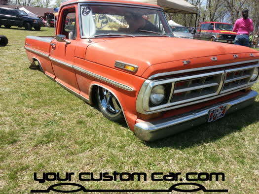 layed out at the park, 2013, custom f100yourcustomcar, truck show, car show