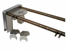 minitruck bridge kit, axle bracket, air bag mount, air suspension, 4 link, four, minitruck air, 2500, 2600, lb