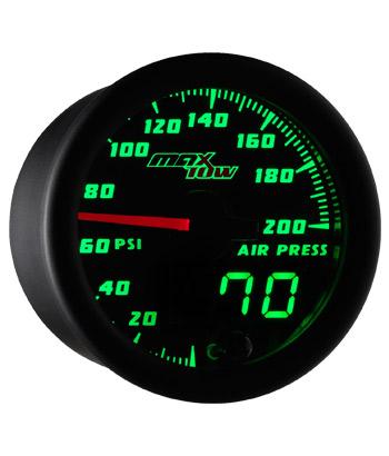 air suspension gauge, digital air bag gauge, 200 psi, single pressure air gauge, air suspension, air bag gauge