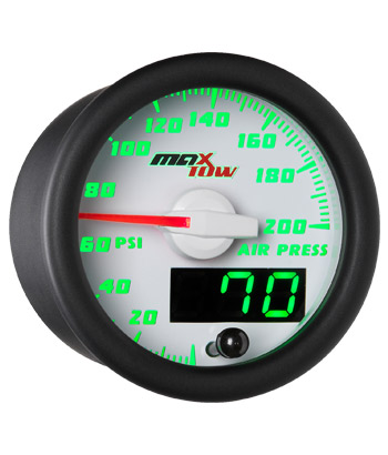 air suspension gauge, digital air bag gauge, 200 psi, single pressure air gauge, air suspension, air bag gauge