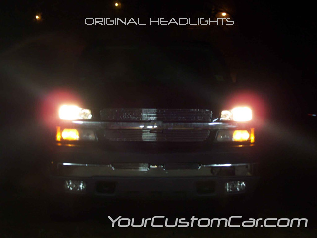 chevy silverado, original headlights,
